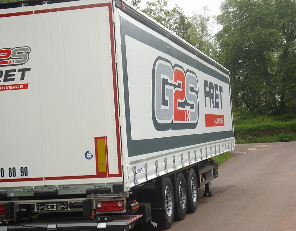 Publicité bâche camion