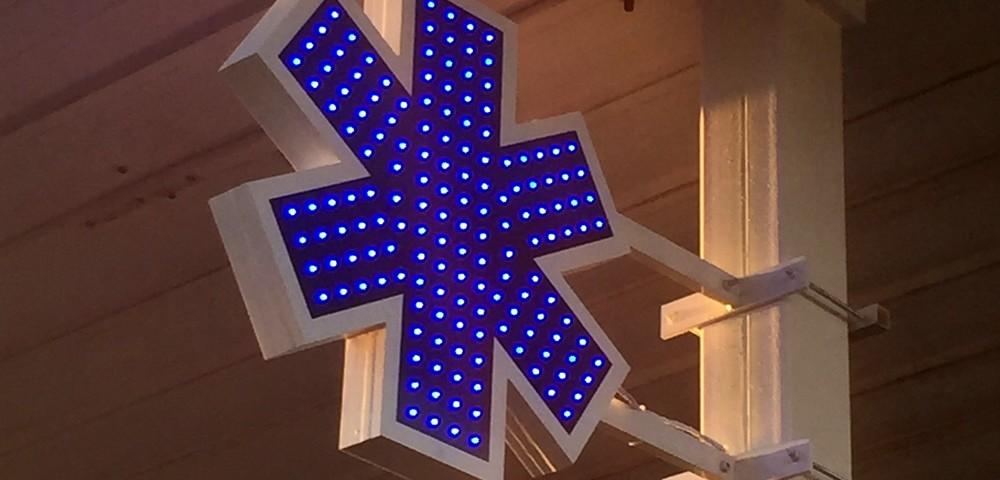 croix lumineuse ambulance led
