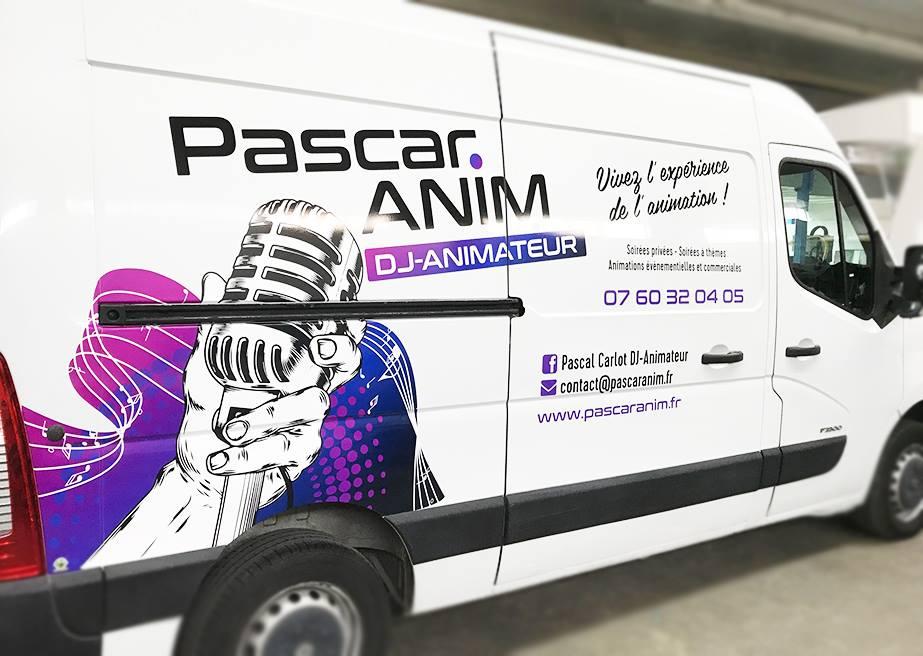 Flocage vehicule dj animateur