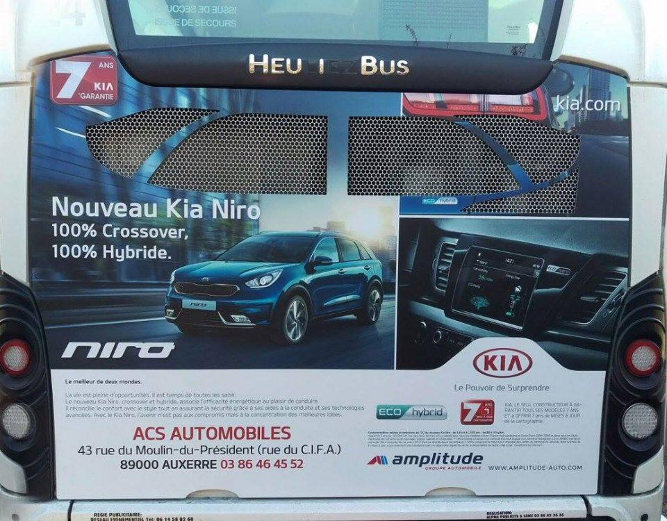 Publicité sur bus à Auxerre 89