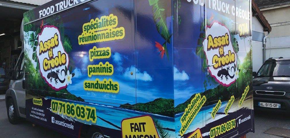 Décoration food truck créole à Sens 89