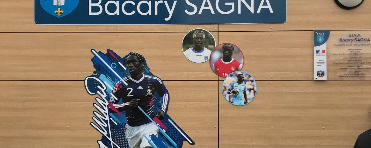 Signalétique stade Bacary Sagna à Sens 89