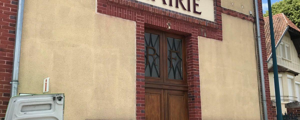 lettres mairie d'Etigny découpées en dibond